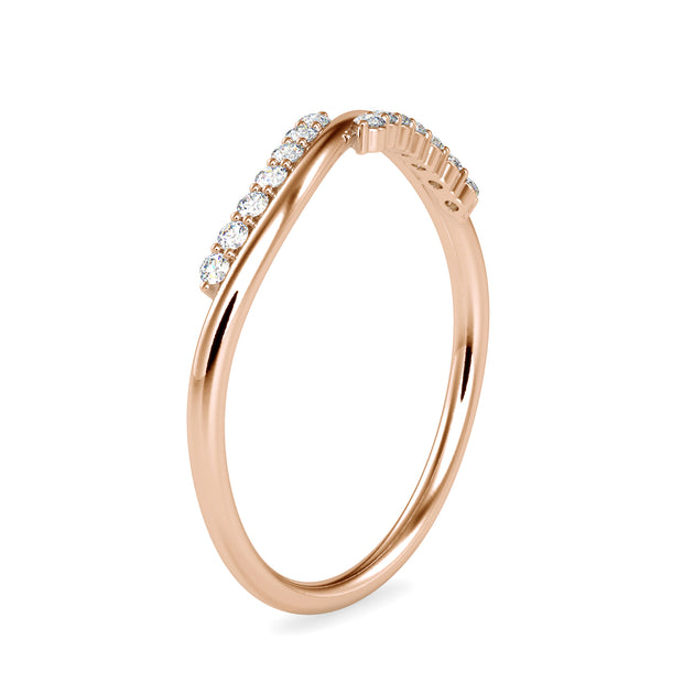 0.09 Carat Diamond 14K Rose Gold Ring - Fashion Strada