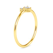 0.10 Carat Diamond 14K Yellow Gold Ring - Fashion Strada