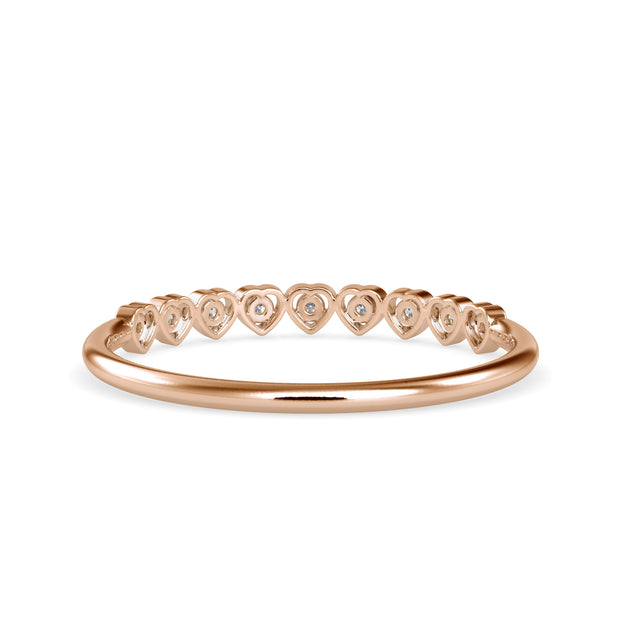 0.06 Carat Diamond 14K Rose Gold Ring - Fashion Strada