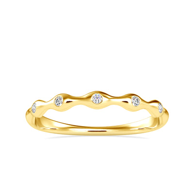 0.04 Carat Diamond 14K Yellow Gold Ring - Fashion Strada