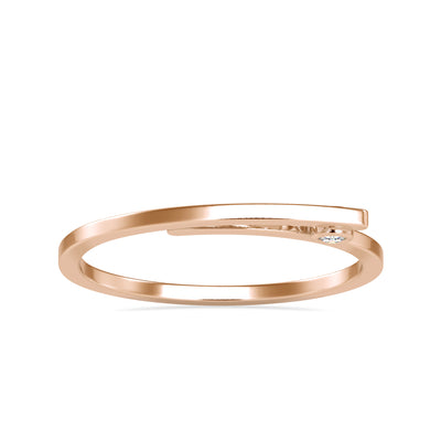 0.03 Carat Diamond 14K Rose Gold Ring - Fashion Strada