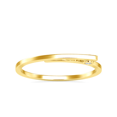 0.03 Carat Diamond 14K Yellow Gold Ring - Fashion Strada