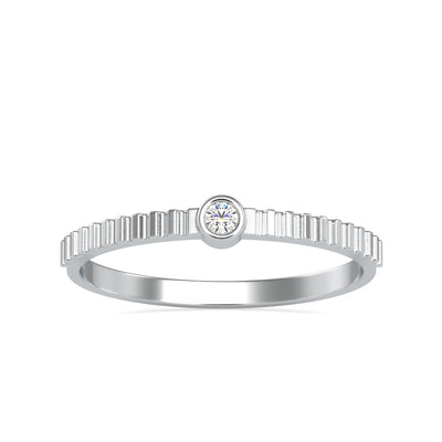 0.03 Carat Diamond 14K White Gold Ring - Fashion Strada