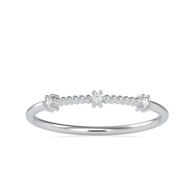 0.04 Carat Diamond 14K White Gold Ring - Fashion Strada