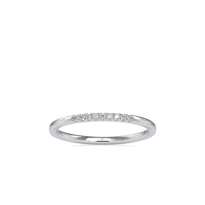 0.05 Carat Diamond 14K White Gold Wedding Band - Fashion Strada