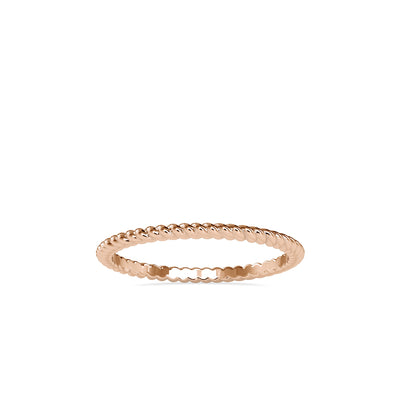 14K Rose Wedding Band - Fashion Strada