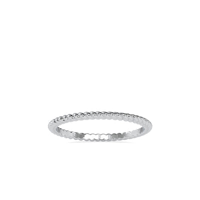 14K White Wedding Band - Fashion Strada