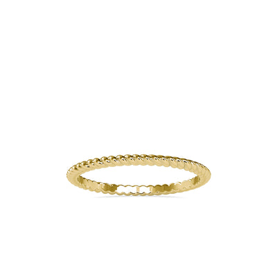 14K Yellow Wedding Band - Fashion Strada