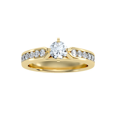1.07 Carat Diamond 14K Yellow Gold Engagement Ring - Fashion Strada