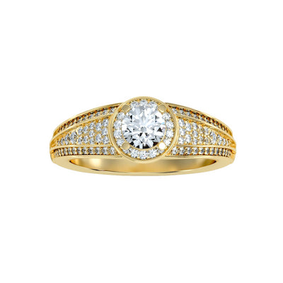 0.97 Carat Diamond 14K Yellow Gold Engagement Ring - Fashion Strada