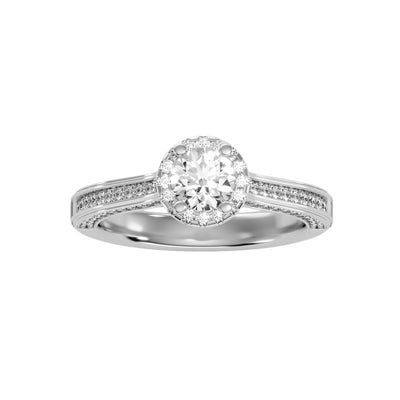 1.03 Carat Diamond 14K White Gold Engagement Ring - Fashion Strada