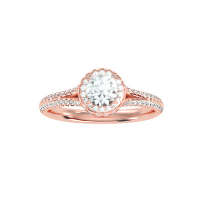 1.07 Carat Diamond 14K Rose Gold Engagement Ring - Fashion Strada