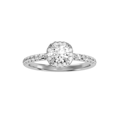 1.16 Carat Diamond 14K White Gold Engagement Ring - Fashion Strada