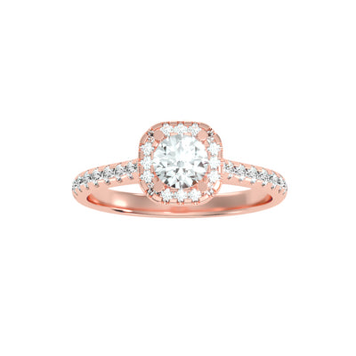 0.96 Carat Diamond 14K Rose Gold Engagement Ring - Fashion Strada
