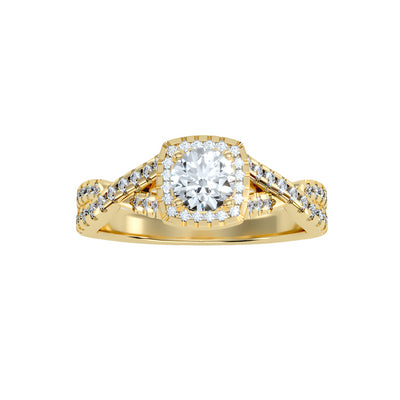 1.10 Carat Diamond 14K Yellow Gold Engagement Ring - Fashion Strada