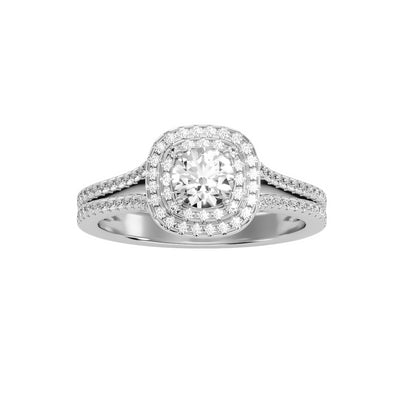 1.14 Carat Diamond 14K White Gold Engagement Ring - Fashion Strada