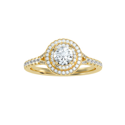 0.93 Carat Diamond 14K Yellow Gold Engagement Ring - Fashion Strada