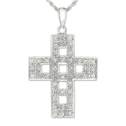 14K Diamond Cross Necklace - Fashion Strada