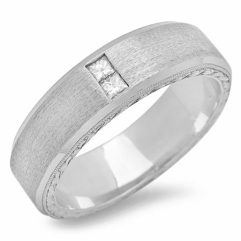 14K Mens Designers Diamond Ring