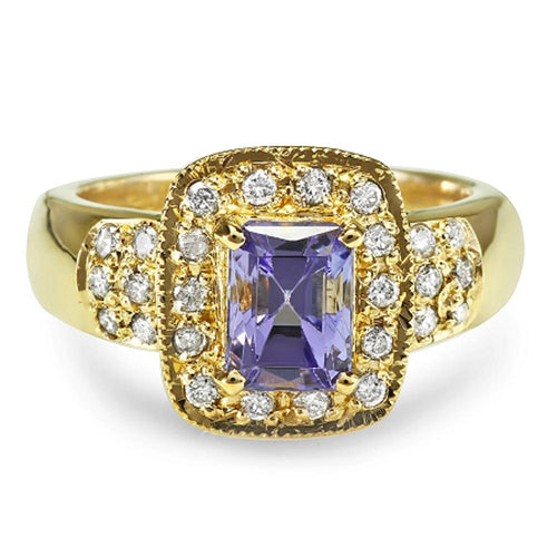 14K Kunzite and Diamond Ring - Fashion Strada