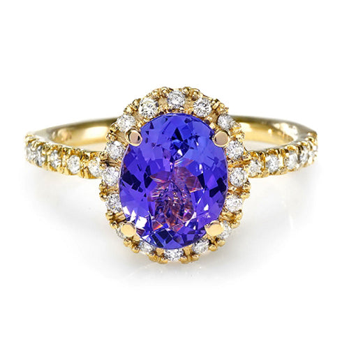 14K Tanzanite And Diamond Ring