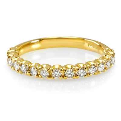 14K Womens Diamond Wedding Band