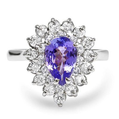 14K Tanzanite And Diamond Ring - Fashion Strada