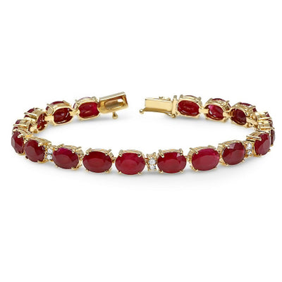 14K Ruby and Diamond Bracelet - Fashion Strada