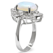 14K Opal and Diamond Ring - Fashion Strada