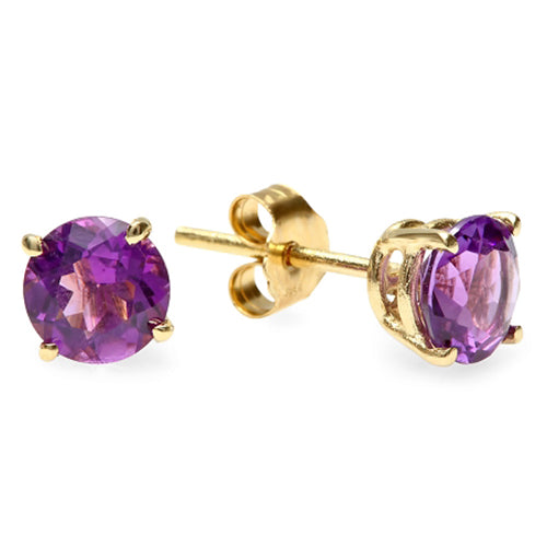 14K Amethyst Earrings - Fashion Strada