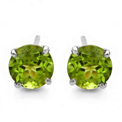 14K Peridot Stud Earrings - Fashion Strada