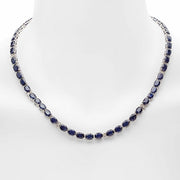 14K Sapphire and Diamond Necklace - Fashion Strada