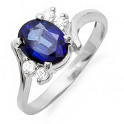 14K Sapphire And Diamond Ring - Fashion Strada
