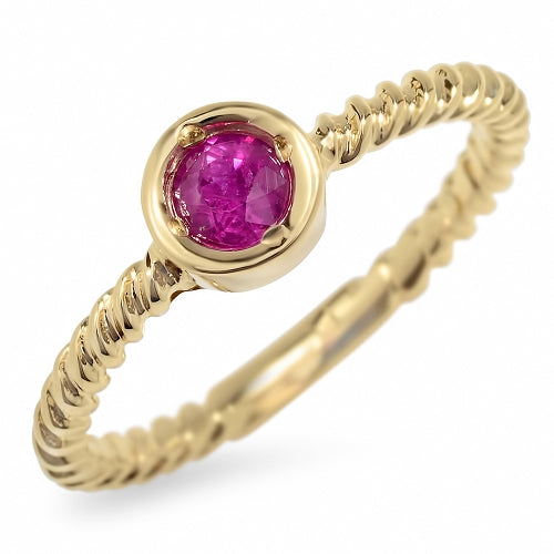 14K African Ruby Ring