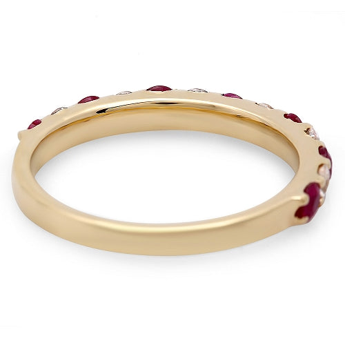 14K African Ruby And Diamond Ring - Fashion Strada