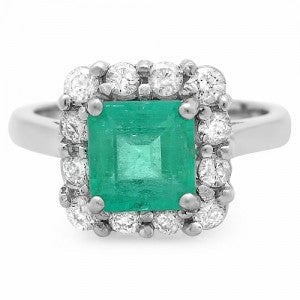 14K Emerald And Diamond Ring - Fashion Strada