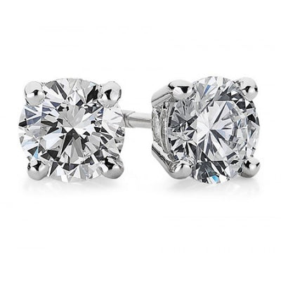 14K Diamond Stud Earings - Fashion Strada