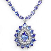 14K Tanzanite And Diamond Necklace