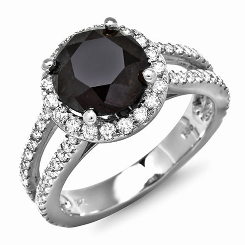 14K Black Diamond Ring - Fashion Strada