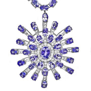 14K Tanzanite And Diamond Necklace - Fashion Strada