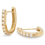 14K Diamond Earrings - Fashion Strada