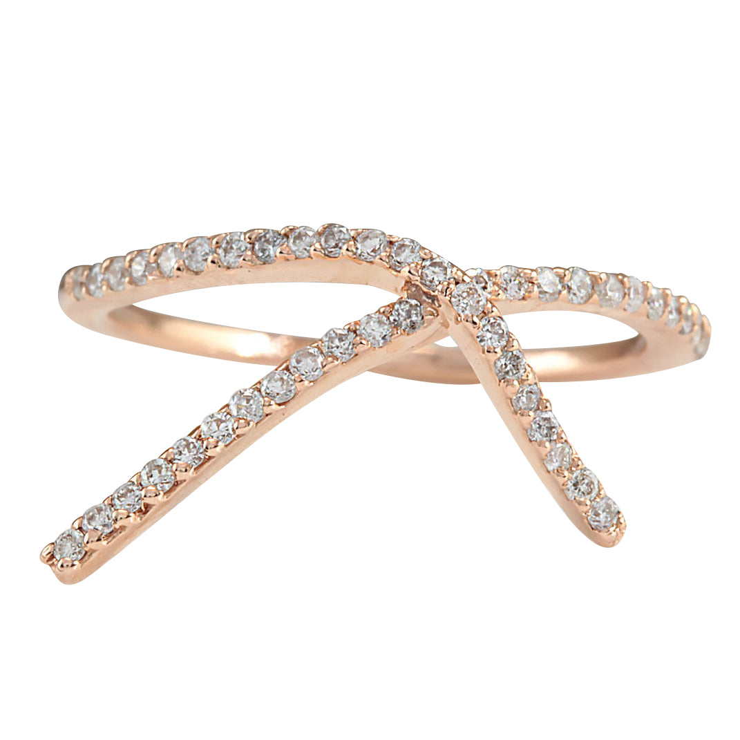 0.25 Carat Natural Diamond 14K Rose Gold Ring