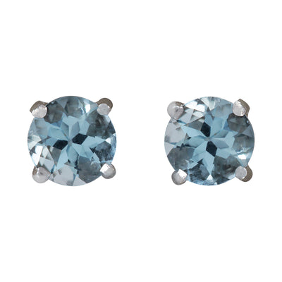 1.18 Carat Natural Aquamarine 14K White Gold Earrings - Fashion Strada
