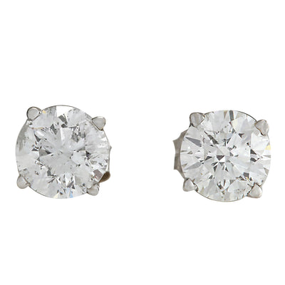 1.00 Carat Natural Diamond 14K White Gold Earrings