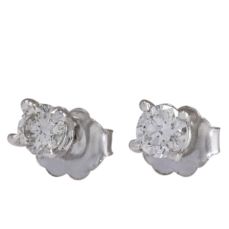0.45 Carat Natural Diamond 14K White Gold Earrings