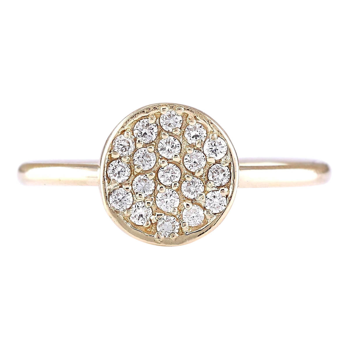 0.16 Carat Natural Diamond 14K Yellow Gold Ring