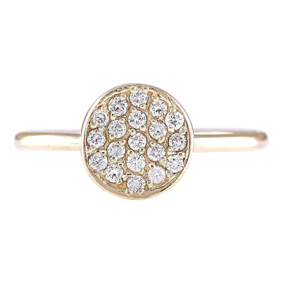 0.16 Carat Natural Diamond 14K Yellow Gold Ring - Fashion Strada