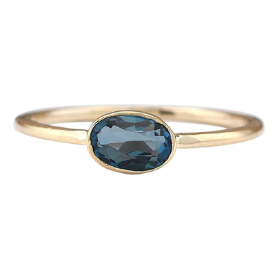 0.60 Carat Natural Topaz 14K Yellow Gold Ring
