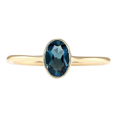 0.60 Carat Natural Topaz 14K Yellow Gold Ring - Fashion Strada