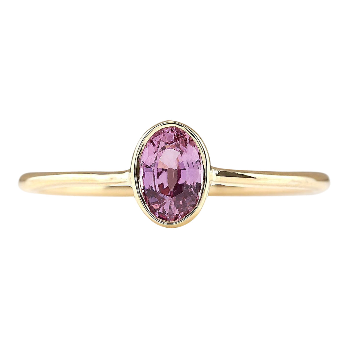 0.70 Carat Natural Ceylon Sapphire 14K Yellow Gold Ring